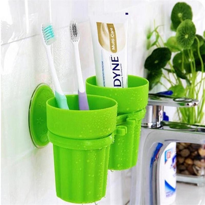 Bird Design Suction Cup Toothbrush Toothpaste Holder Rack Bathroom Wall Sucker a