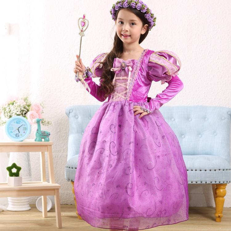 Chicas vestidos niños nieve blanca princesa vestido niños Halloween ...