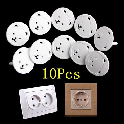 5/10Pcs Cute Bear Power Socket Cover Plugs Cover Child Baby Safety Protector Proof Electric Shock Pl