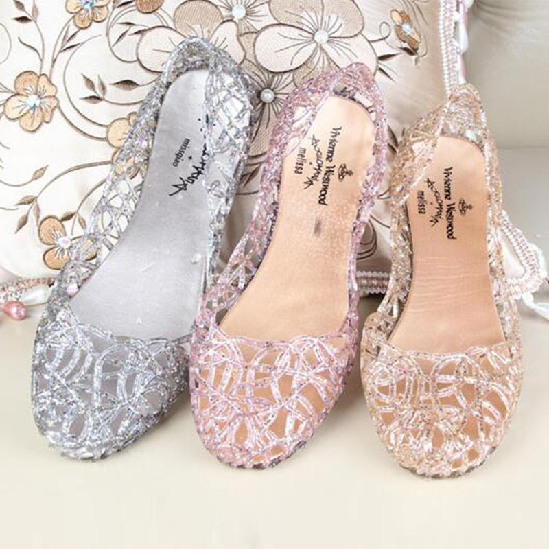 9eb418ec68dd4c 1 Pairs Summer Women Hot Ventilate Crystal Shoes Jelly Hollow ...