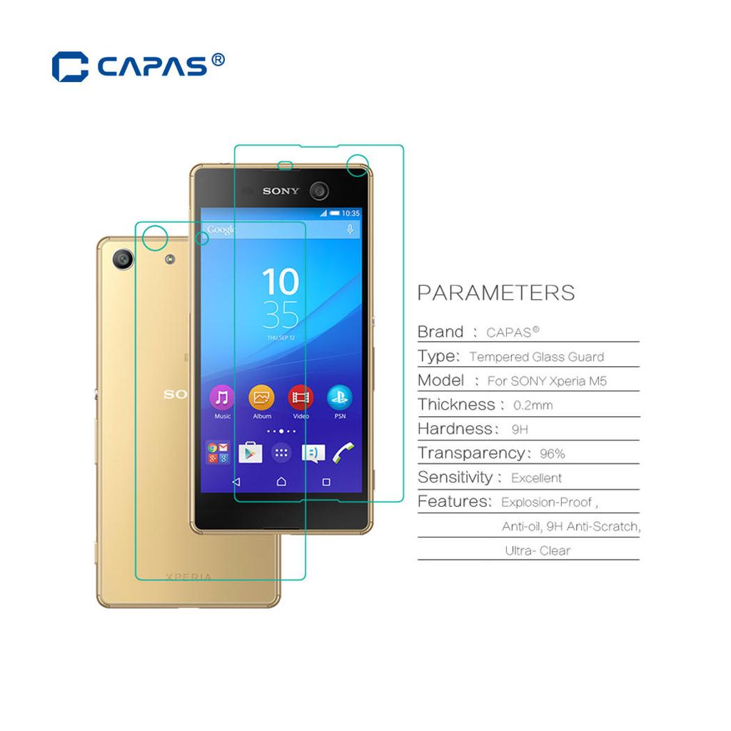 CAPAS Front Back Tempered Glass for Sony Xperia M5 Dual E5633 Screen Protector Explosion-Proof Film-buy at a low prices on Joom e-commerce platform