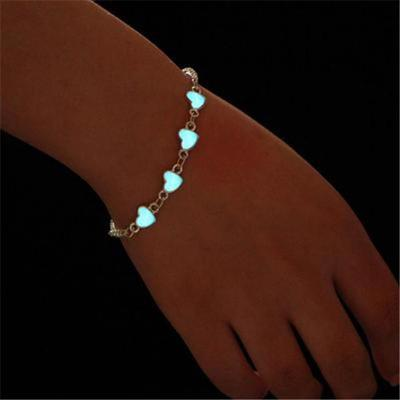 Brillan en la oscuridad Cadena Tobillera Tobillo Pulsera Descalzo Sandalias Beach Jewelry hghg