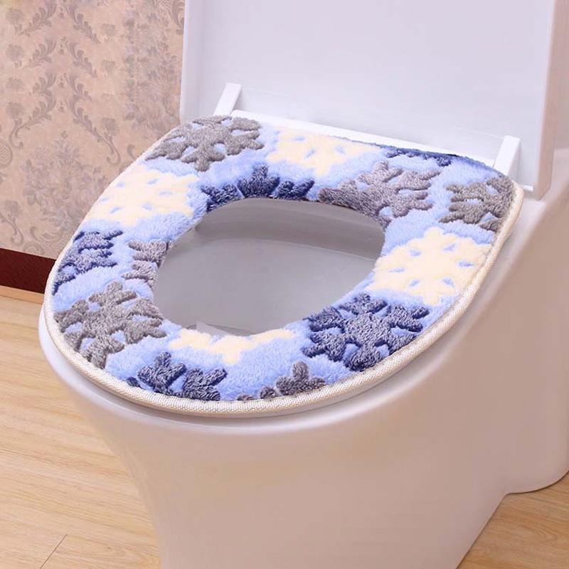 1шт ванной с подогревом моющаяся ткань сиденья туалете крышку фото