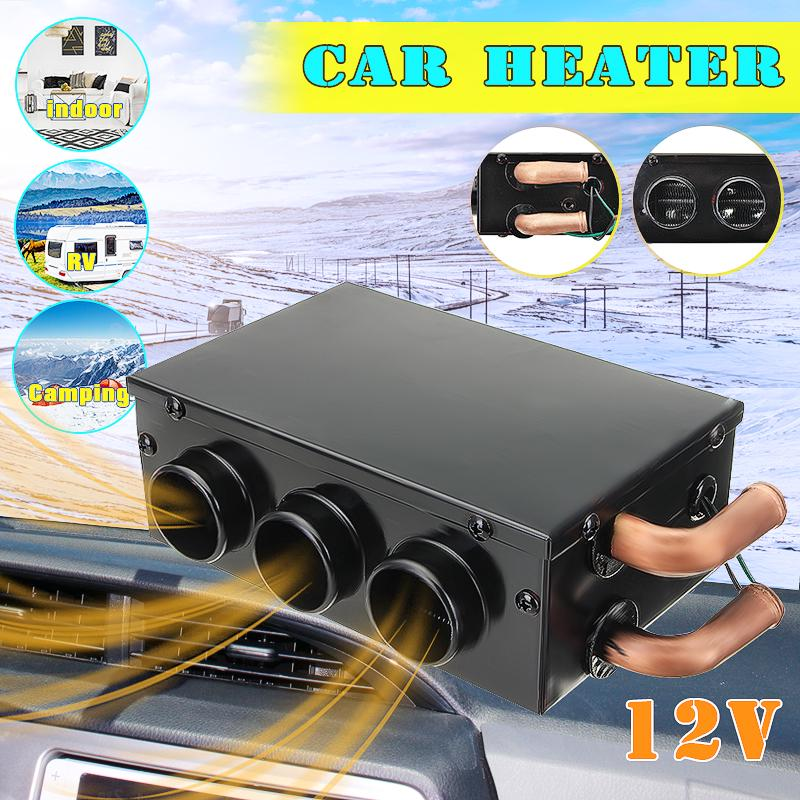 Portable 12V Metal Car Van Heater Heating Warmer Fan Window Defroster Demister