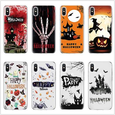 0c6d7a660ed Halloween Moonlight Castle Soft TPU Rubber silicone Phone Case for Meizu M6  Clear cover
