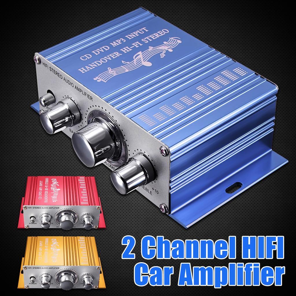 12V Мини Hi-Fi автомобиль Стерео усилитель 2CH Аудио усилитель Звук RCA/DVD/MP3 для мотоцикла HomeHY2001  – купить по низким ценам в интернет-магазине Joom