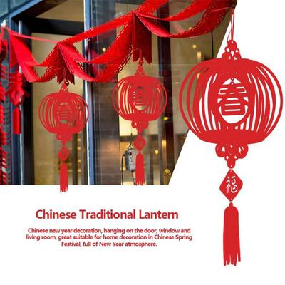 10x New Year Chinese Paper Red Lantern Festival Christmas Hanging Decorations