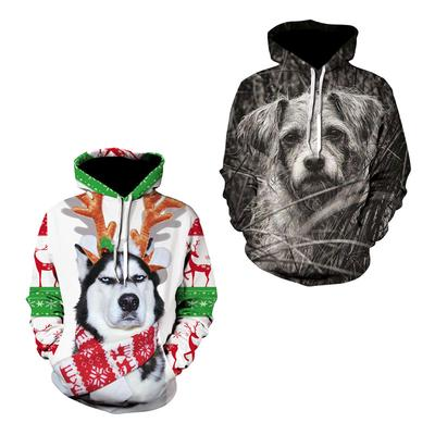Large Size Top 3D Print Skull and Wolf Hoodies Men And Women Pullovers Hooded KS