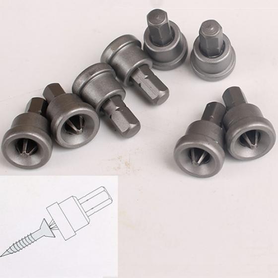 "Drywall Bit Holder 1//4/"" Hex Drive//PH2 Bits Drill Plaster Board Adjustable Depth"