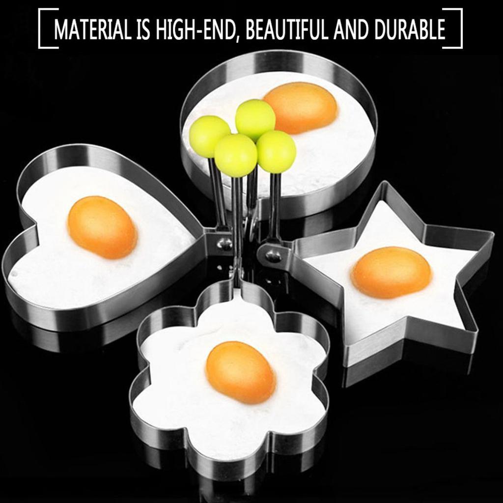 Pancakes Crumpets Fried Egg Shaper Mould  Mold Heart//Flower//Star//Circle Shape