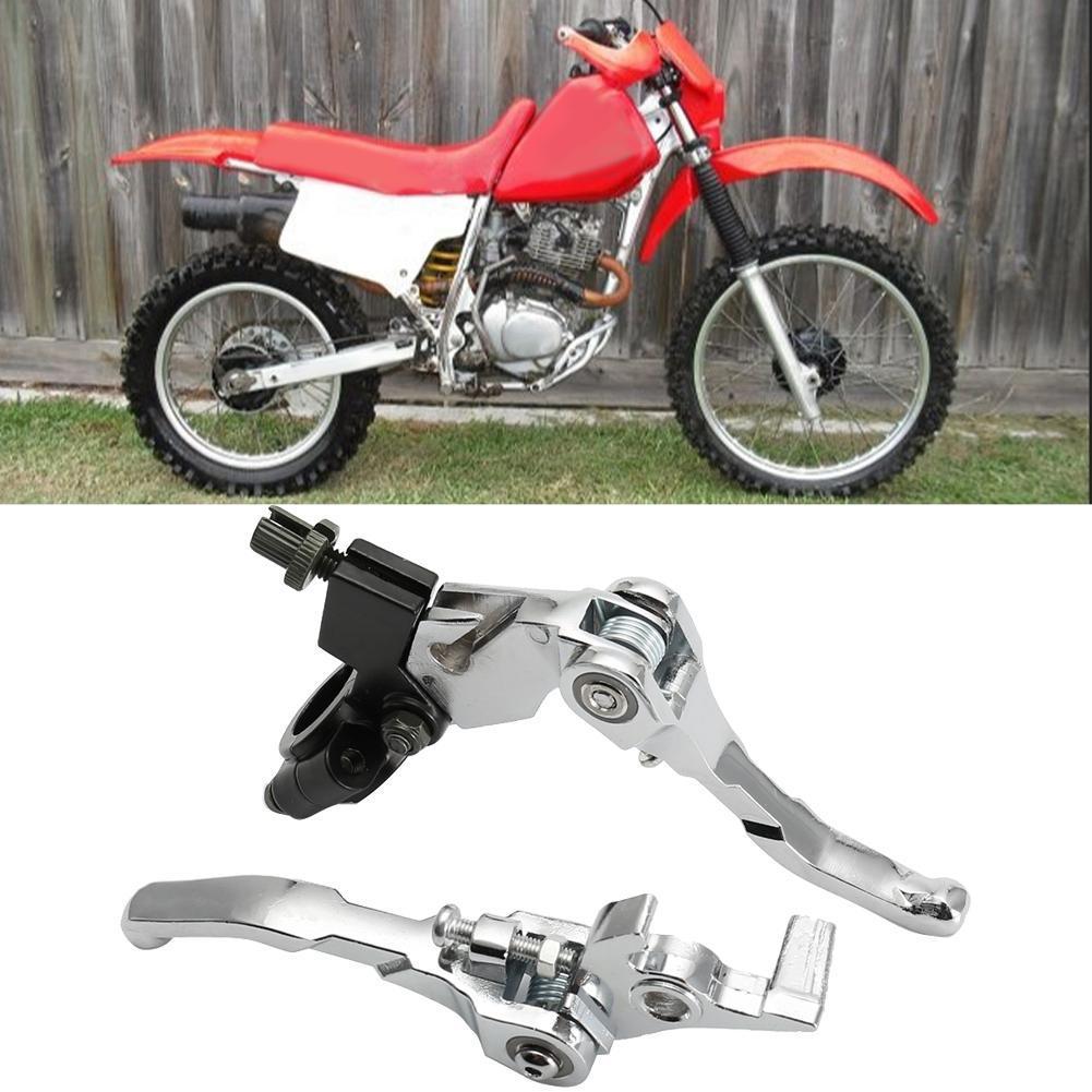 Aluminum Alloy Folding Handlebar Clutch Lever Fit Brake Lever Set for BBR CRF KLX YZF Motorcycle Dirt Bike Pit Dirt Bikes Parts
