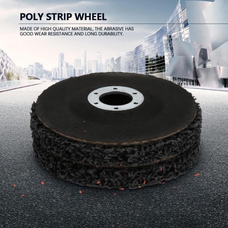 Poly Strip Wheel Disc,Paint Rust Removal Tool,5Pcs 100mm,for Grinding and Polishing The Surface of Steel Plastic Stone Fiber Products Aluminum Copper Concrete Etc Wood