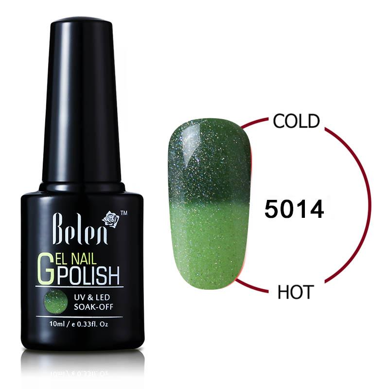 Belen 10ML camaleón termal cambiante del Color Gel de uñas larga ...