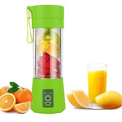 Six Blades in 3D for Superb Mixing Rechargeable 380mL Green,Blue Personal Blender Portable Juicer Cup//Electric Fruit Mixer//USB Juice Blender