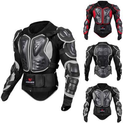 Motorcycle Full Body Armor Protective Jacket Guard ATV Motocross Gear Shirt Red Size M For Honda CBR1100XX CBR 1100 Super Blackbird