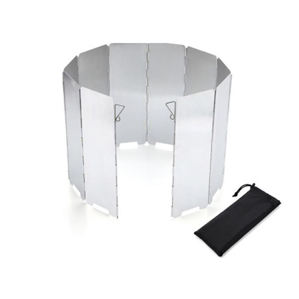 9 Plates Foldable Gas Stove Campfire Windshield