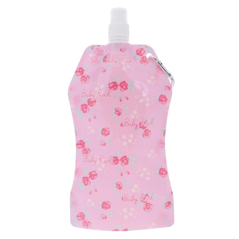 Water Bottle Bag Floral Neoprene Insulate Kettle Sleeve Pouch for Hiking Camping