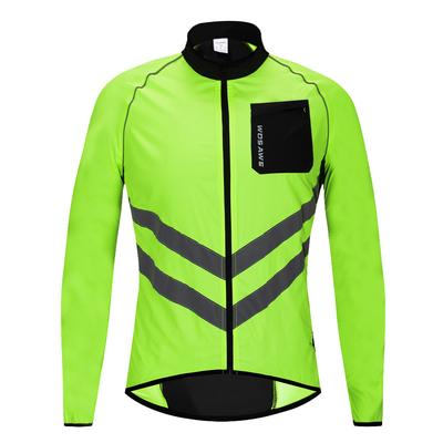 Mens Cycling Jackets Jersey Riding Bicycle Wind Coat Showerproof High Visibility