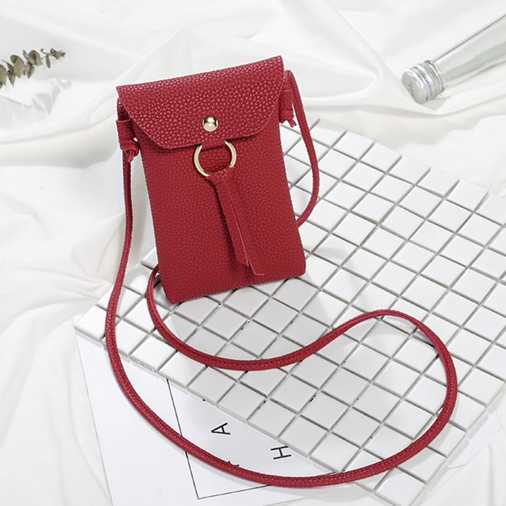 Girl Mini Purse Cute Coin Cell Phone Case Women Mobile Shoulder Crossbody Bag OO