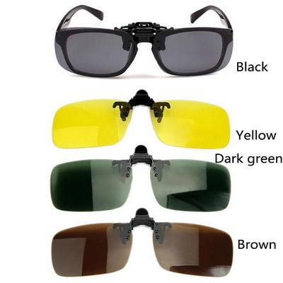 7927a73cd7 Polarized Day Night Vision Clip-on Flip-up Lens Sunglasses Driving Glasses  O3A87