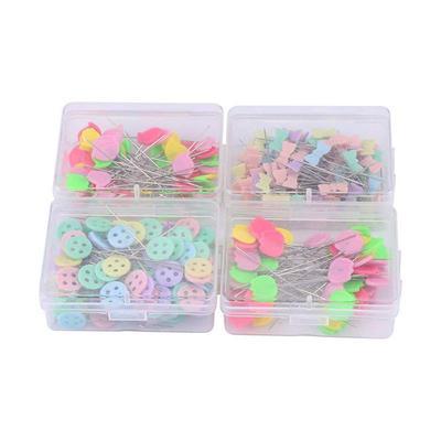 Flower Head Pins Flat Long Patchwork Sewing Accessories Pins Button Shape 200Pcs