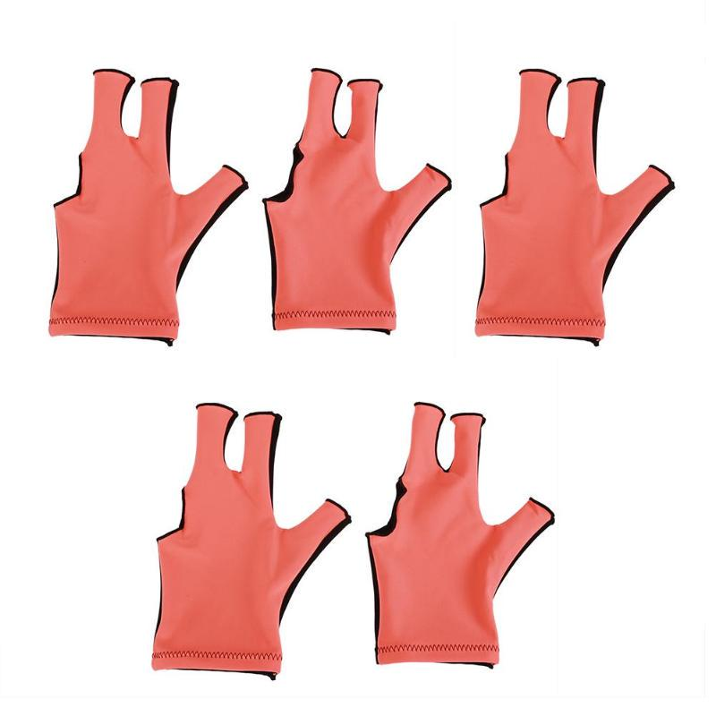 New 5pcs Packed Billiard Pool Cue Left Hand Open Three Fingers Lycra Hand Gloves