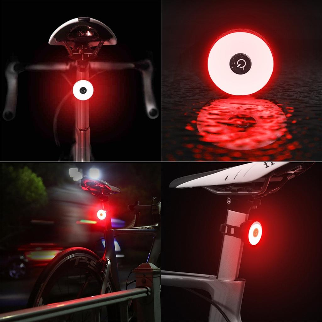 Kiwaly Bike Taillight Led Bicycle Lights Rechargeable Automatic Brake Sensing Rear Lights 3 Mode Flashing Waterproof Ultra Bright Safety Tail Lights Fits All Bicycles Mountain Road