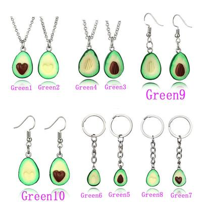 a481fa3654 Stylish Green Avocado Friendship Necklaces Heart Pit Valentines Love Gifts  Pendant