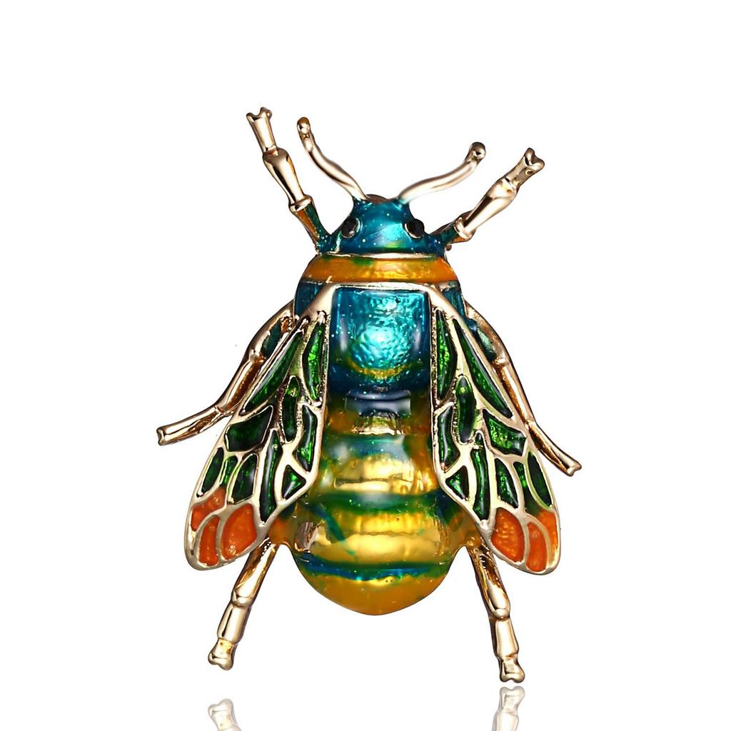 Personality Drip Yellow Green Bee Brooch Men and Women Insect Brooch Pin Yellow