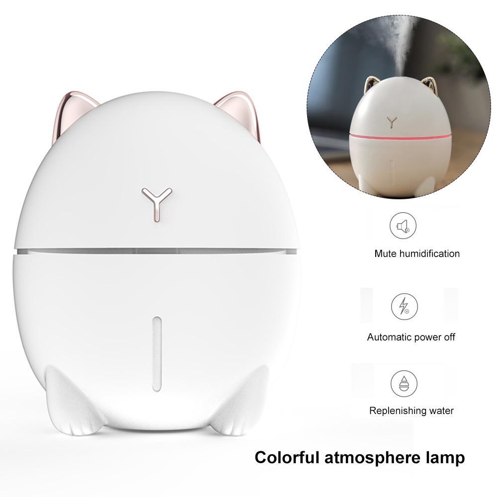 Home Office Mute LED 200ml Lampe atomiseur /à LED Vislone Mini Humidificateur dair USB