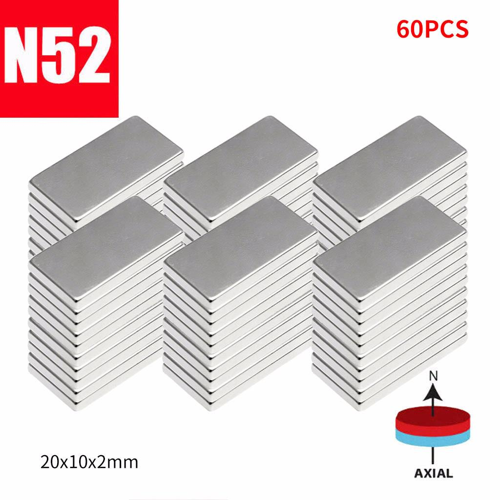 10//20//50Pcs N50 Neodymium Block Magnet 20x10x2mm Super Strong Rare Earth