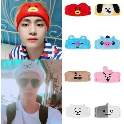 BTS BT21 Doll Hair Tie Hairpin Headbands Hair Band Official Authentic Genuine