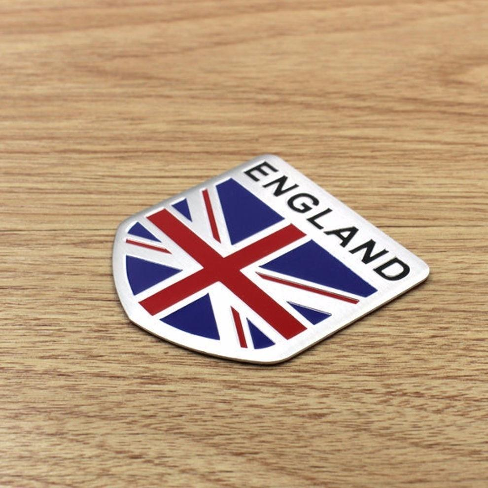Car Alloy Aluminum ENGLAND Britain Flag Shield Emblem Decal Badge Sticker