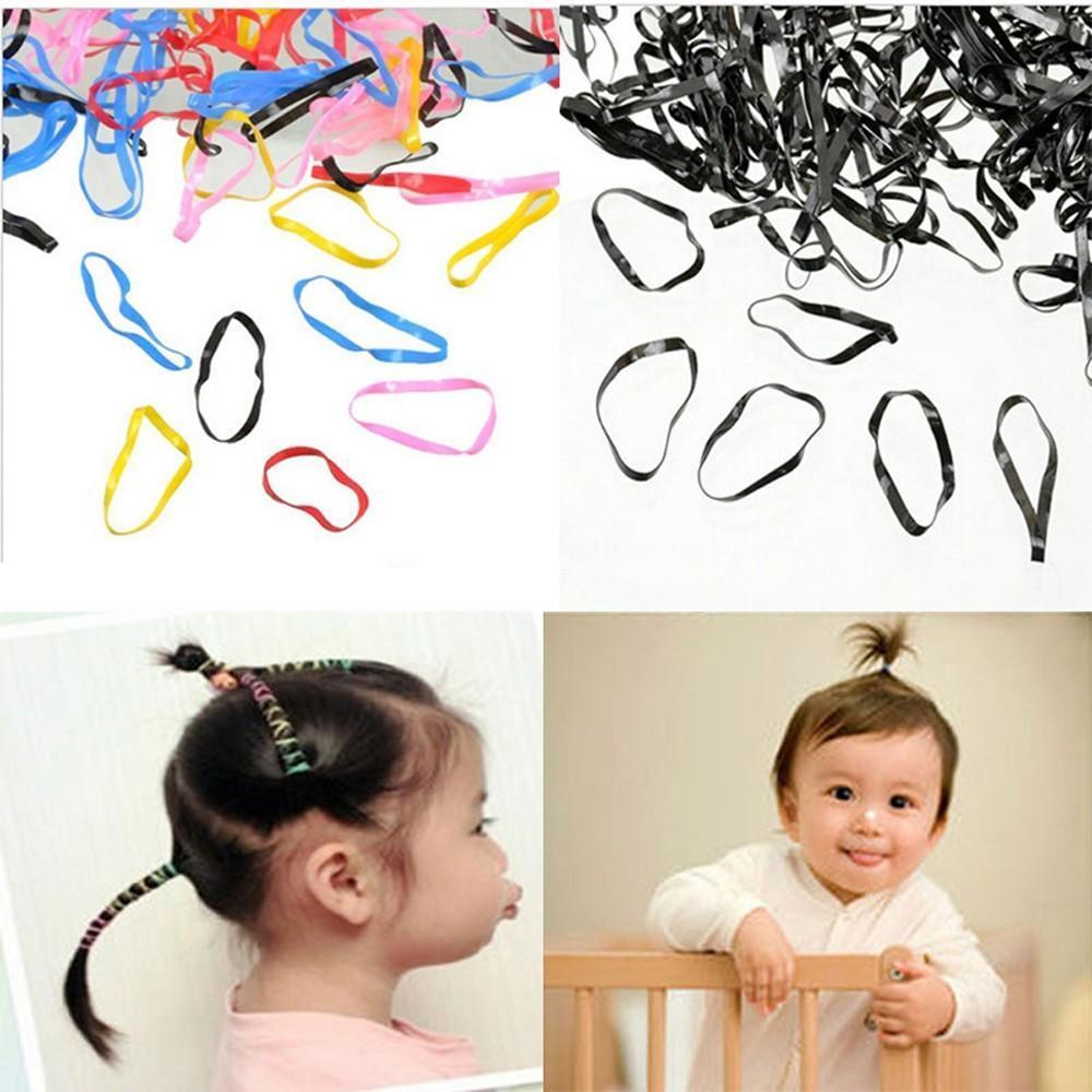 400pcs Rubber Rope Hairband Ponytail Holder Elastic Hair Band Ties Braids Plaits