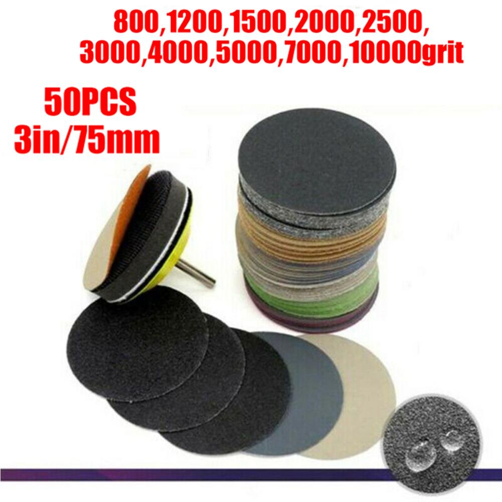 Sandpaper Sanding Discs Pads 50pcs 50mm Polishing Accessories Replacement