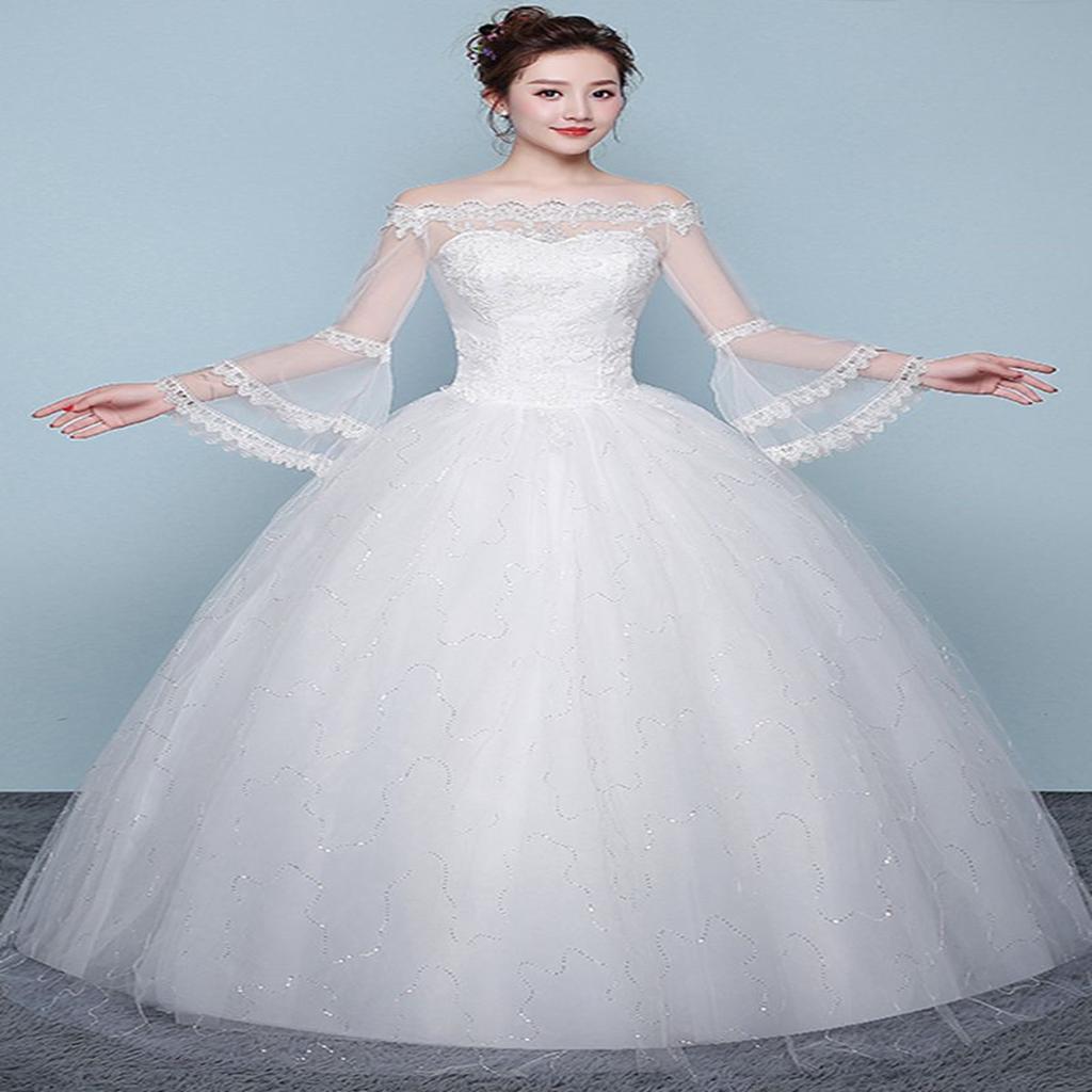 Große Größe große Größe Braut Hochzeit Hochzeit dünne Prinzessin Traum