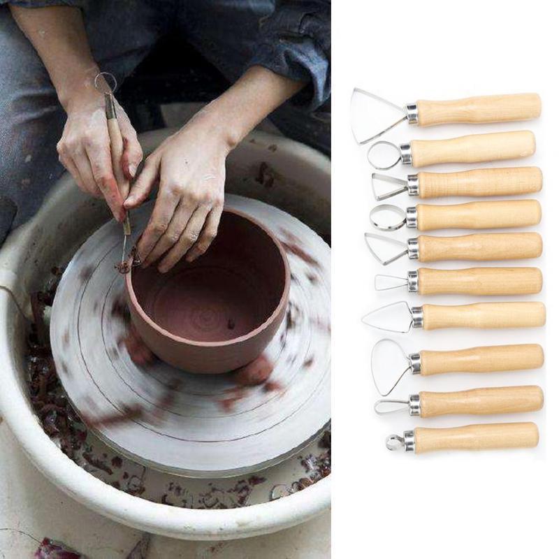 2pcs Ceramic Clay Pottery Carving Sculpting Modeling Tool Handmade DIY Durable-//