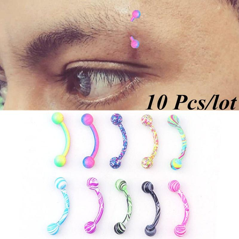 Stainless Steel Curved Barbell Ball Eyebrow Piercing Body Ring Jewelry WS