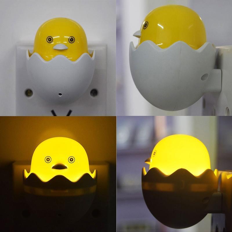 Ente LED Night Light Control Lichtsensor Schlafzimmer Lampe Steckdose AC 110 220V OLI