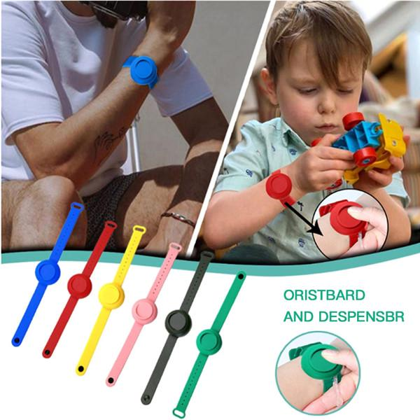 Portable Silicone Wristband Sanitizer Bracelet Disinfectant With Squeeze Bottle
