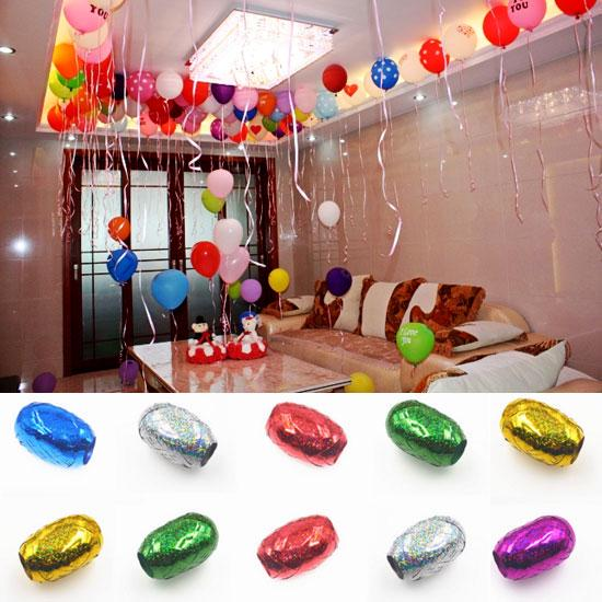 10 Meters Paillette Balloon Ribbon Gift Wrapping Ribbon Rope Party Wedding Decor