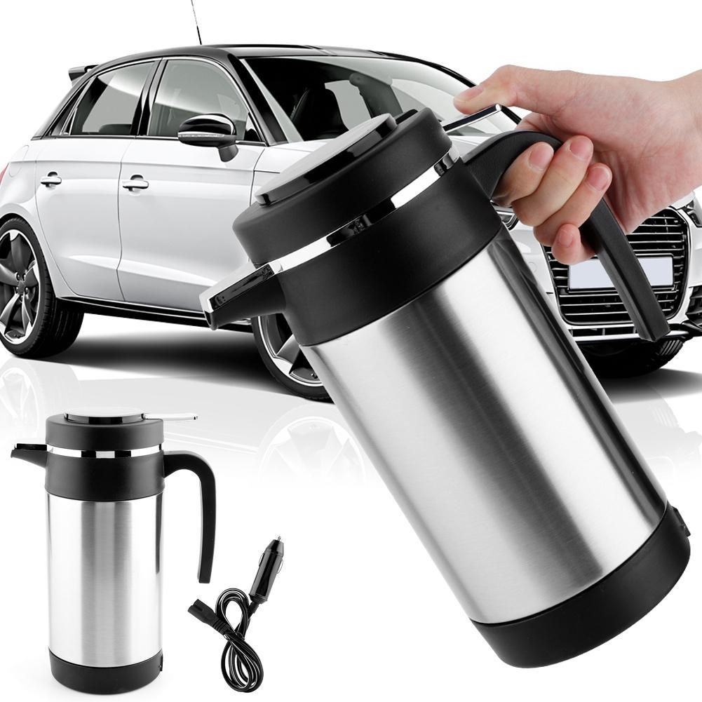 12V Heating Kettle,1200ML Stainless Steel Car Electric Kettle Portable Car Coffee Tea Thermos Water Heating Cup For Car Electric Heating Cup