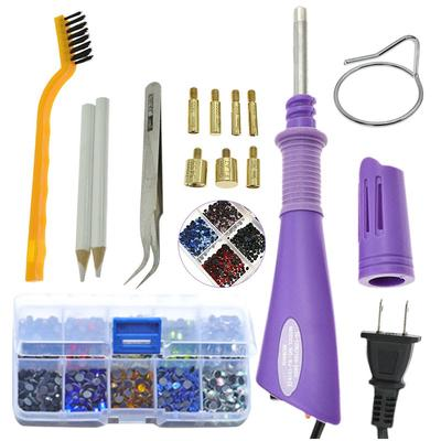 DIY Hot Fix Rhinestone Applicator Wand Setter Tool Kit Hot Drill Point Drill ~