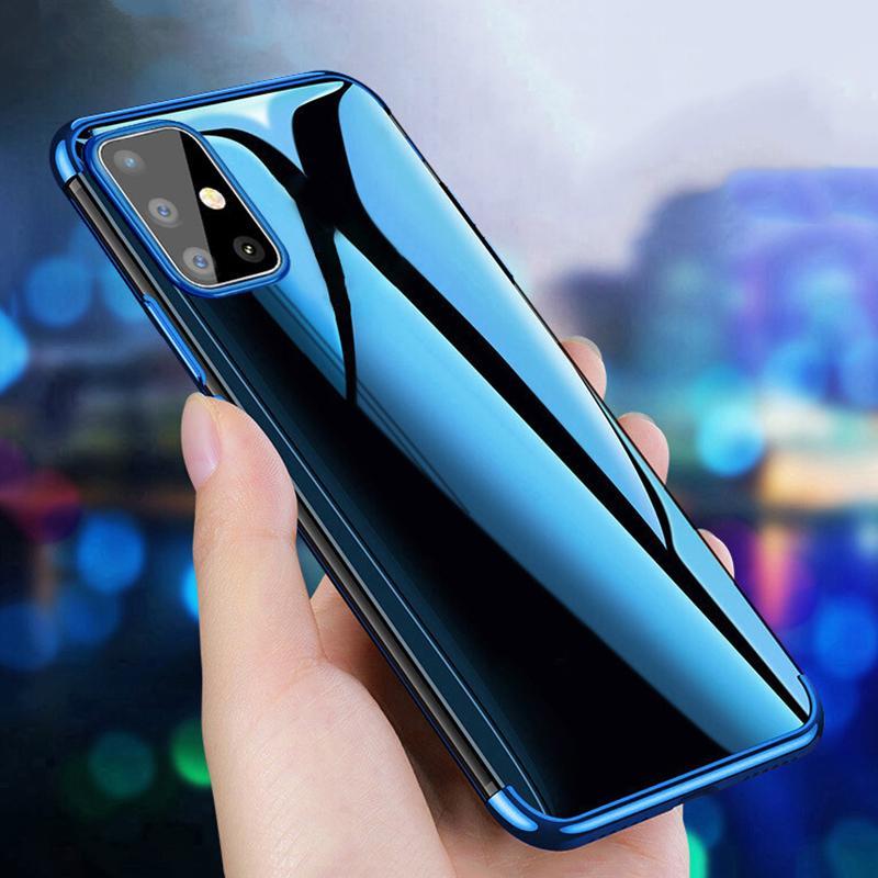 Plating Frame Soft Clear TPU Case для Samsung Galaxy S20 Ultra S8 S10 A51 A71 A10S A20S A30 A50 A50 фото