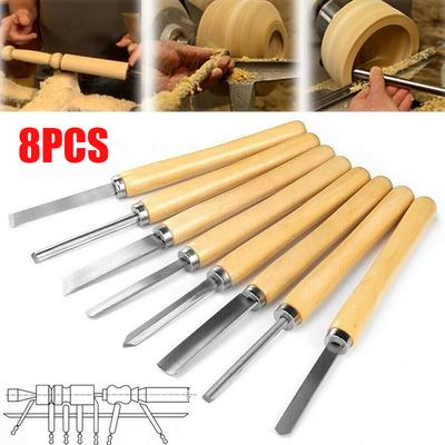 12Pcs High-Speed Steel Wood Tools Chisel Gouge Woodworking Useful