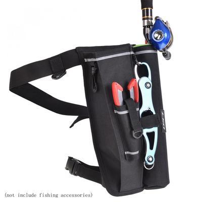 Multifunction Fishing Lure Bag Rod Holder Waist Pack Leg Bag Tackle Storage