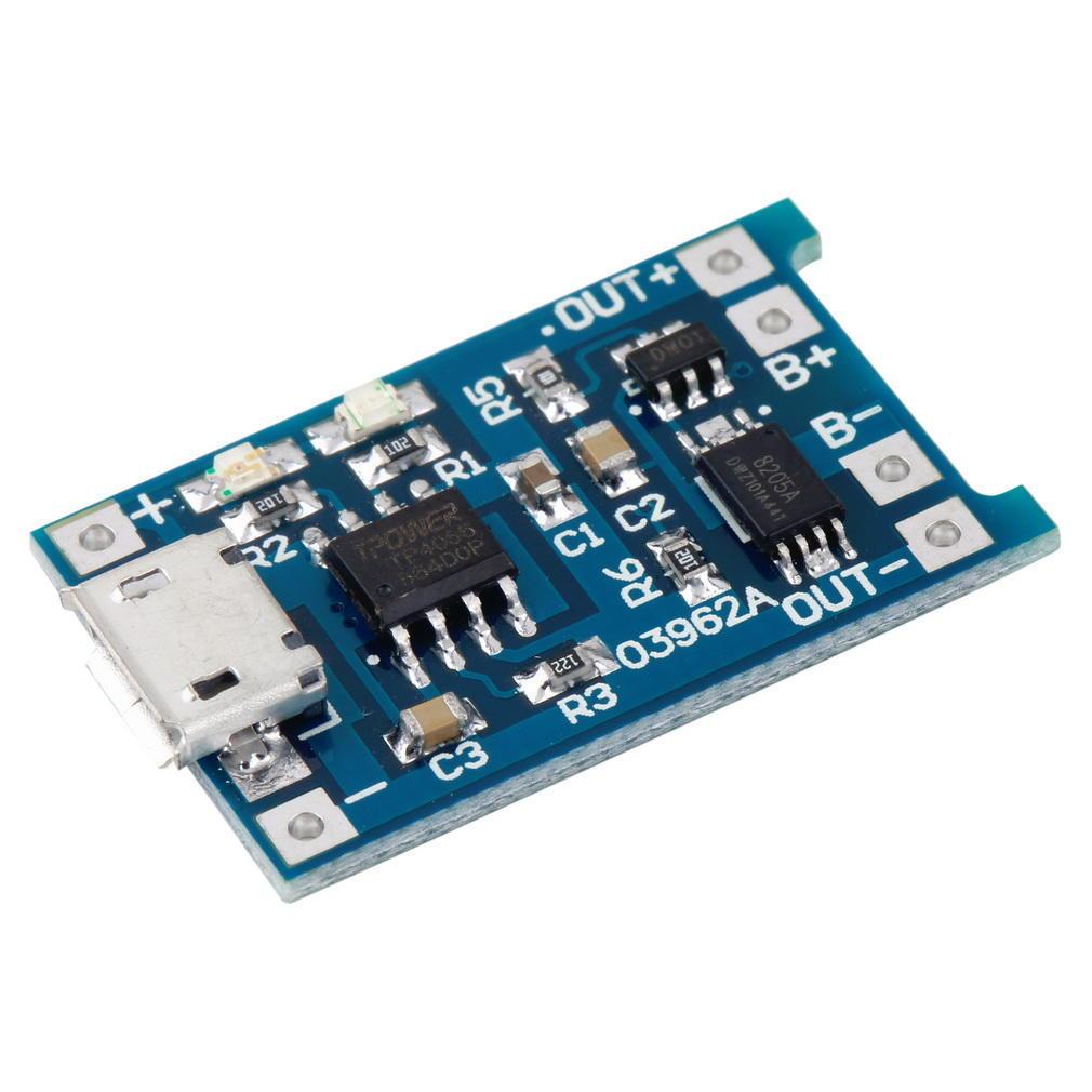 5PCS 5 V Mini USB cargador de placa de carga de batería de litio 1 A Módulo en 4.5V-5.5v