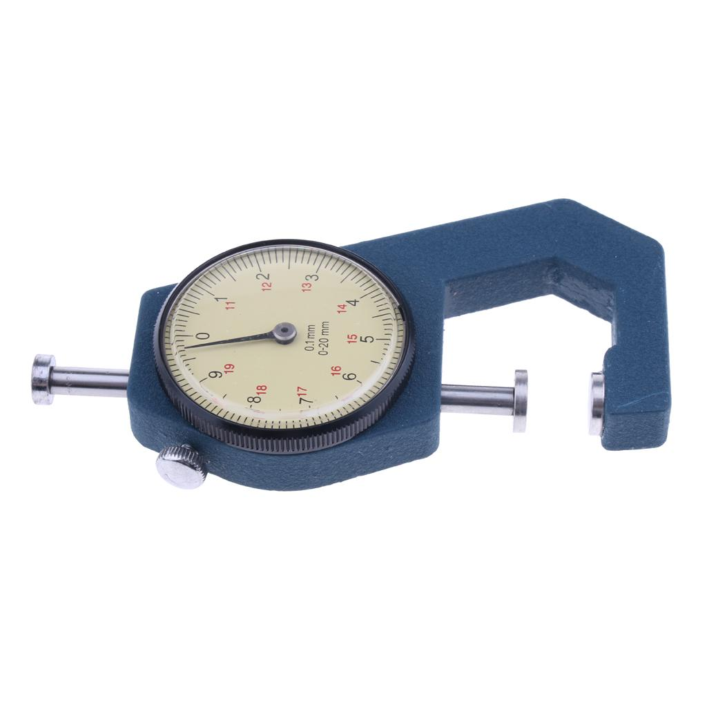 Precision Manual Dial Paper Leather Thickness Gauge Meter 0.01mm 0-10mm.