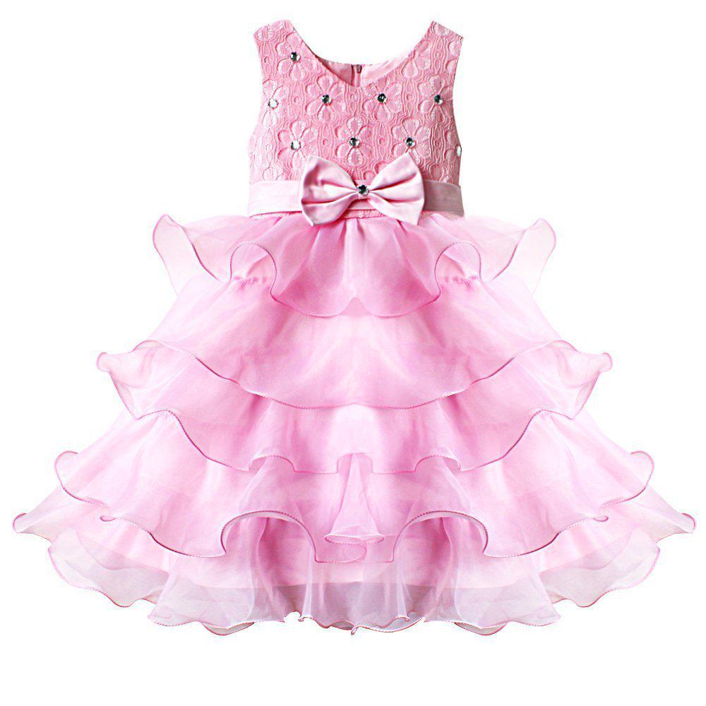Baby bautizo niños volantes encaje Chicas Princesa tutú vestido para ...