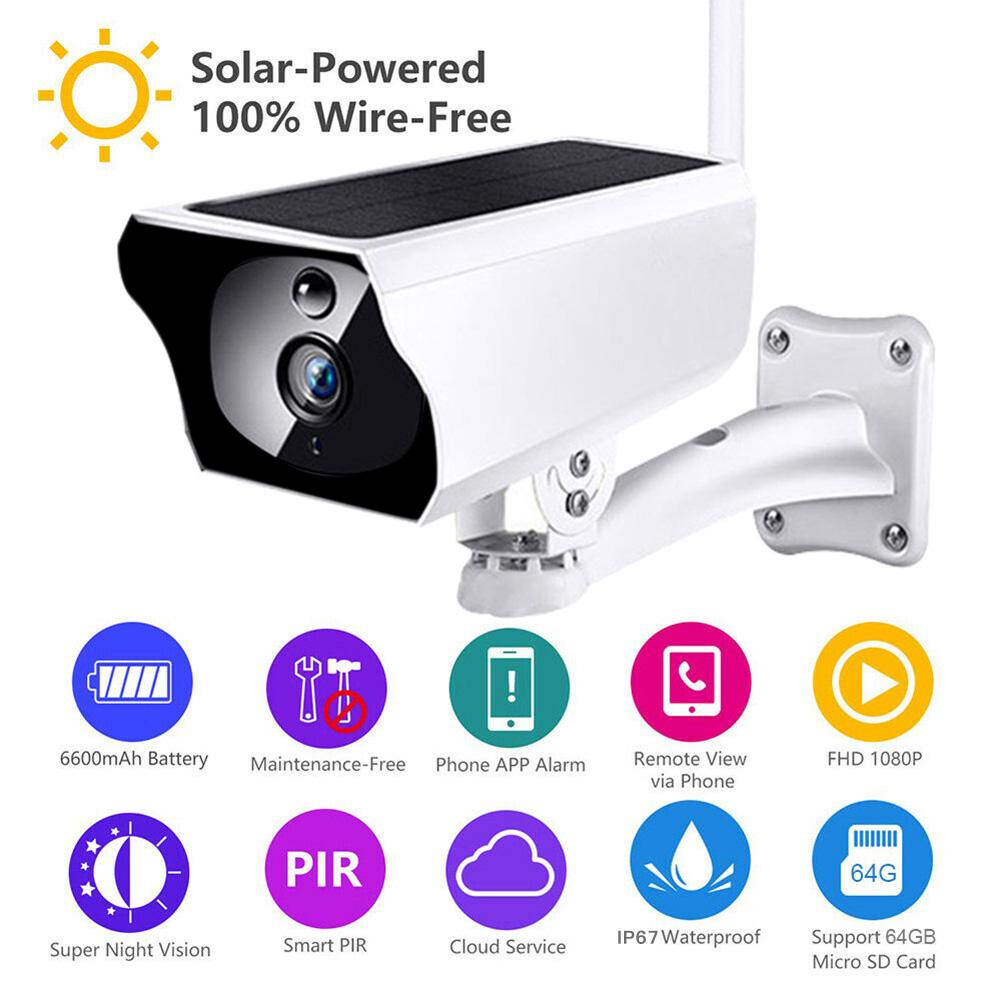 1080P Солнечная Беспроводная HD WiFi Низкая мощность IP66 Камера водонепроницаемая камера наблюдения безопасности – купить по низким ценам в интернет-магазине Joom